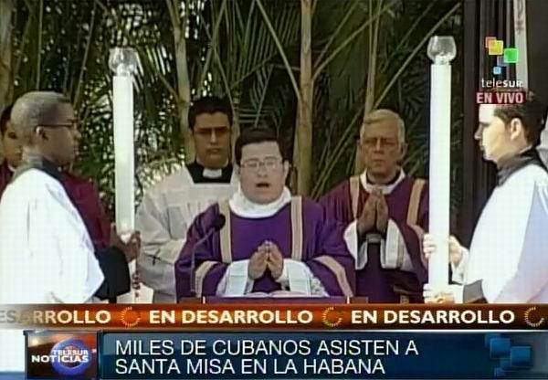 Santa Misa de La Habana, Plaza de la Revolución. Foto Radio Rebelde/Telesur