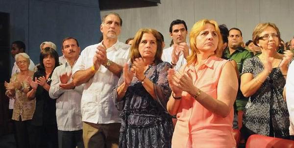 Como invitados especiales se encontraban René González y Fernando González, Héroes de la República de Cuba.Foto: Juvenal Balán