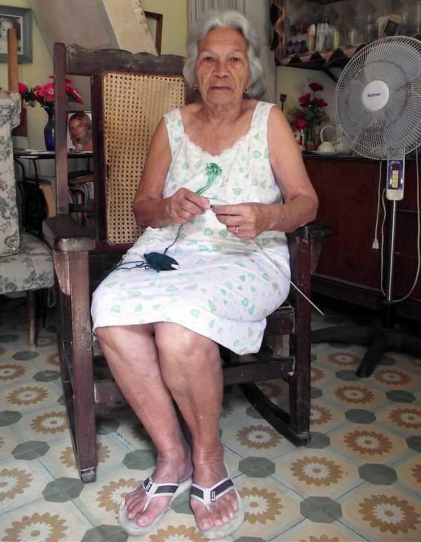 Ama de casa cubana. Foto Abel Rojas.