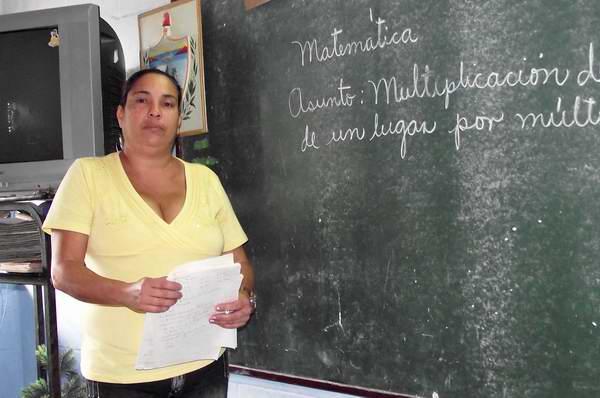 Maestra cubana. Foto Abel Rojas.