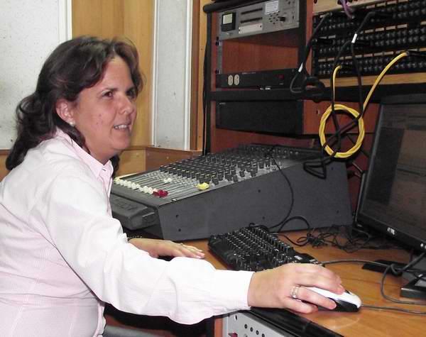 Realizadora de sonido. Foto Abel Rojas.