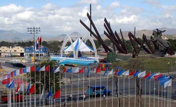 Plaza de la Revolución Mayor General Antonio Maceo Grajales en Santiago de Cuba, donde el Sumo Pontífice Benedicto XVI oficiará misa este 26 de marzo de 2012. Foto:Carlos Sanabia Marrero / Radio Rebelde