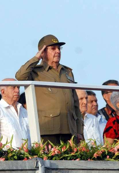 Raúl Castro preside Revista Militar y el Desfile Popular. AIN FOTO/Marcelino VAZQUEZ HERNANDEZ.