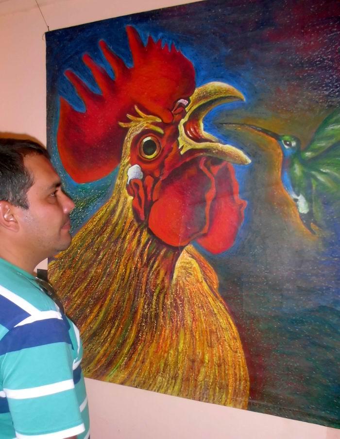 Exponen obras de artista  de la plástica Machuty Cubano en Ciego de Ávila.