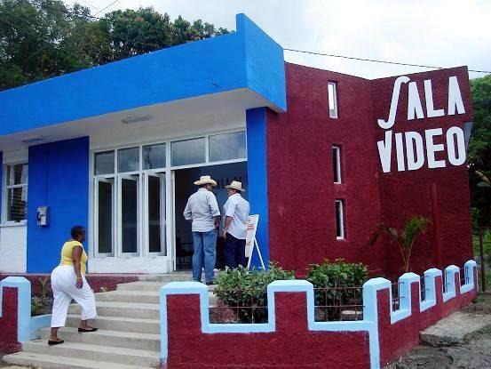 Sala de video en Calabazas de Sagua. Foto: Aroldo García