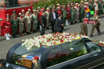 Chavez Honored with Funeral Ceremony